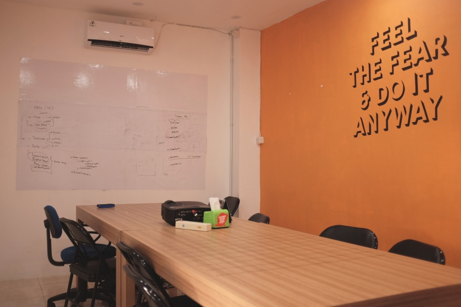 Confie coworking space meeting room
